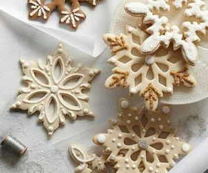 christmas, Cookies, and snowflake image