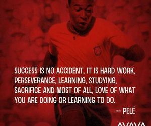 Pele, quotes, and soccer image