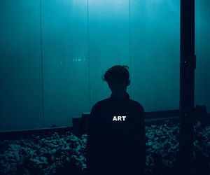 art, beauty, and blue image
