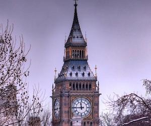 Big Ben, london, and snow image