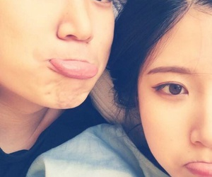 couple, korean girl, and ulzzang image