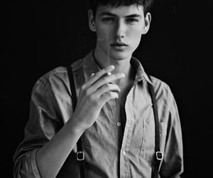 black and white, male model, and jakob hybholt image