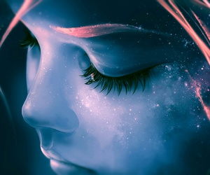 art, galaxy, and fantasy image