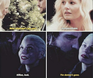 demon, once upon a time, and captain hook image