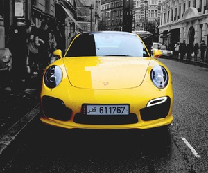 car, city, and yellow image