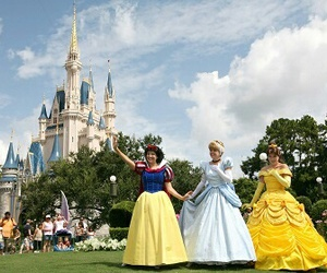 beauty and the beast, disney+world, and belle image