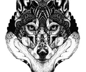wolf, art, and tattoo image