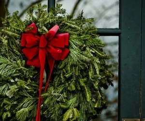 christmas, winter, and bow image