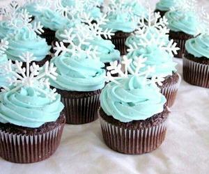 cupcake, snow, and winter image