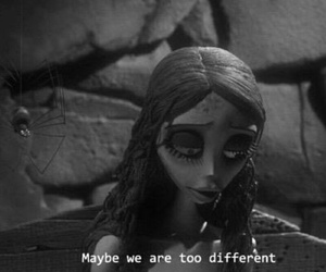 different, corpse bride, and text image