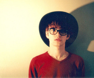 glasses, guy, and hat image