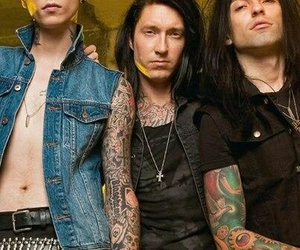 black veil brides, jake pitts, and cc image