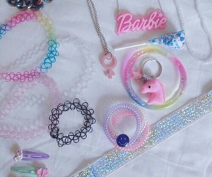 barbie, pastel, and choker image