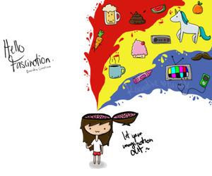 breathe carolina, doodle, and hello fascination image