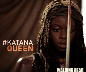michonne, Queen, and the walking dead image