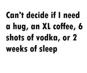 quote, sleep, and coffee image