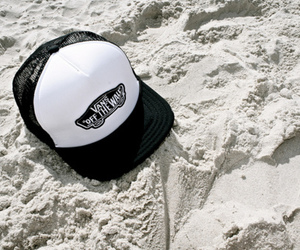 vans, cap, and beach image