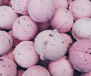 pink, lush, and bath bombs image