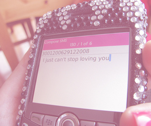 blackberry, sms, and love you image