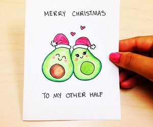 santa, avocado, and christmas image