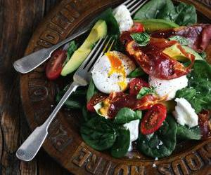 food, delicious, and salad image