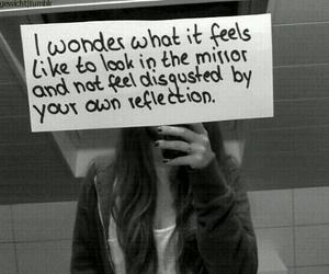 mirror, sad, and ugly image