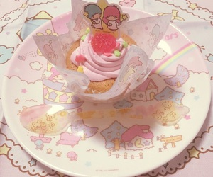 sanrio, dessert, and pink image