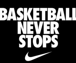 Basketball, nike, and quote image