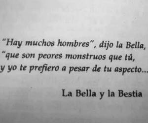 la bella y la bestia, frases, and book image