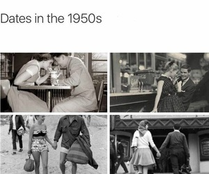 1950s, dating, and low image