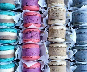 colourful, ice cream, and macaroons image