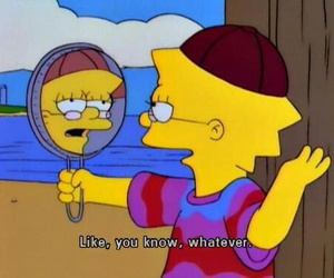 lisa, whatever, and simpsons image