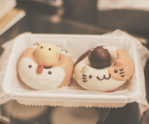 donuts, food, and kawaii image