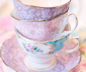 cup, tea, and pastel image
