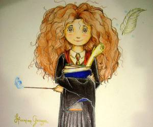 draw, harry potter, and hermione granger image