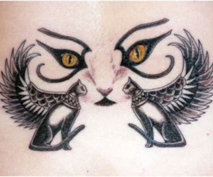 cat, egyptian, and tattoo design image