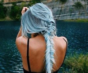blue, blue hair, and braid image