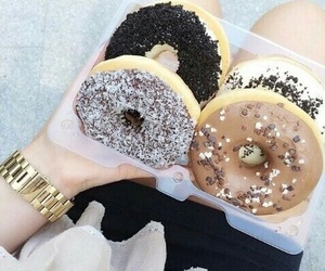 beautiful, black and white, and donuts image