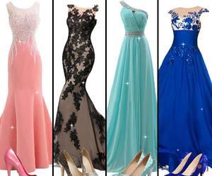 beauty, evening dress, and women fashion image