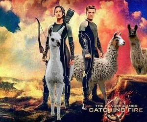 catching fire, katniss, and peeta image