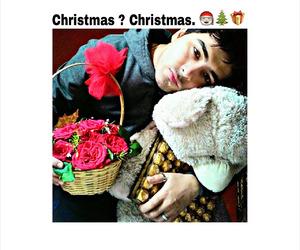 boy, chocolates, and christmas image