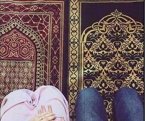 couples, muslim, and prayer image