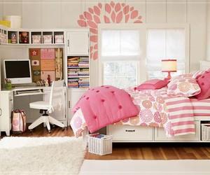girl room, pink, and room image