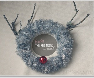 diy, red nose, and wreath image