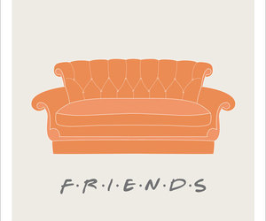 friends, friends couch, and friends poster image