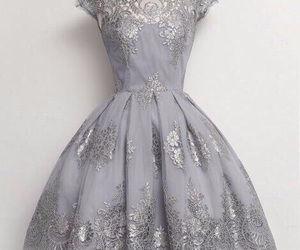 dress, grey, and vintage image