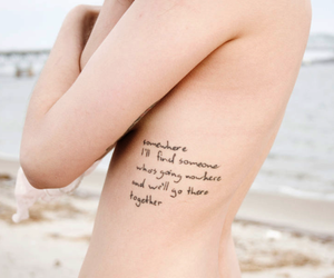 tattoo, text, and beach image