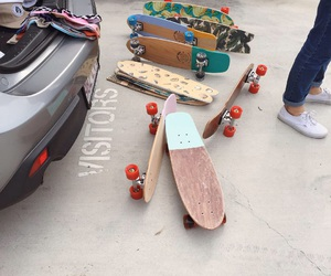 skate, skateboard, and car image