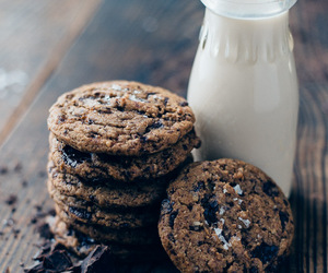 Cookies, chocolate, and milk image