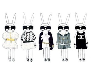 bunnies, chanel, and fashion image